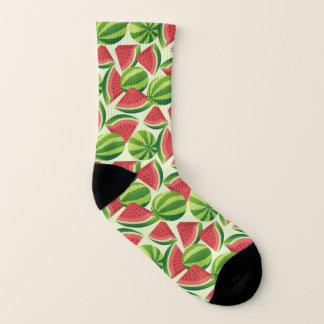 Watermelon slice seamless background 1