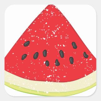 Watermelon Slice Square Sticker
