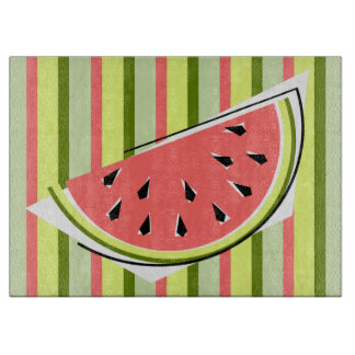 Watermelon Slice Stripe Classic cutting board