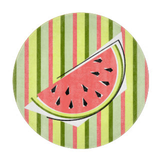 Watermelon Slice Stripe Classic round Cutting Board
