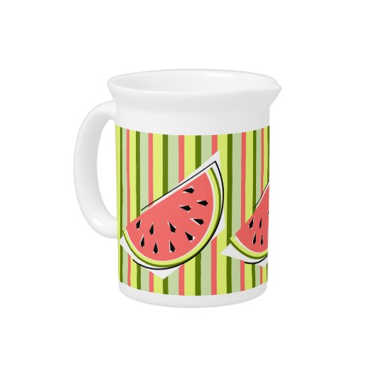 Watermelon Slice Stripe pitcher