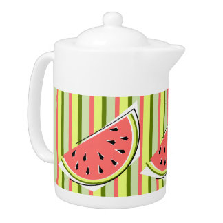 Watermelon Slice Stripe teapot