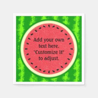 Watermelon Slice Summer Fruit Personalized Paper Napkin