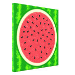 Watermelon Slice Summer Fruit with Rind Gallery Wrapped Canvas