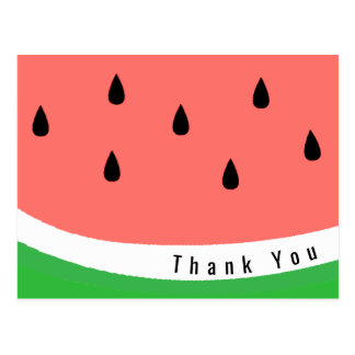watermelon slice thank you postcard