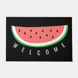 watermelon slice welcome doormat