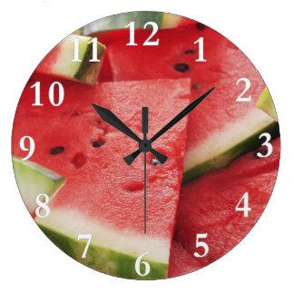 Watermelon Slices Round Wall Clock