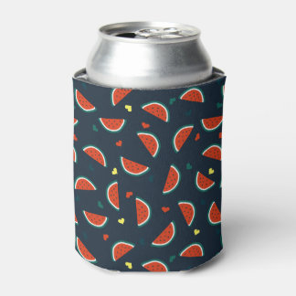 Watermelon Slices with Hearts Pattern Can Cooler