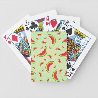 Watermelon Smile Design Bicycle Playing Cards