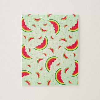 Watermelon Smile Design Jigsaw Puzzle