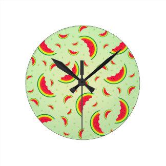 Watermelon Smile Design Round Clock