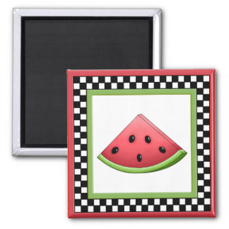 Watermelon Square Checkerboard Magnet