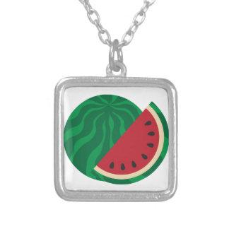 Watermelon Square Pendant Necklace