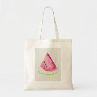 Watermelon square tote bag