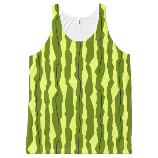 Watermelon Stripe all over tank top All-Over Print Tank Top