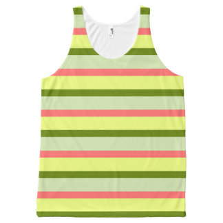 Watermelon Stripe Classic all over tank top All-Over Print Tank Top