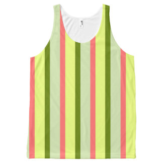 Watermelon Stripe Classic all over vertical All-Over Print Singlet