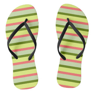 Watermelon Stripe Classic flip flops