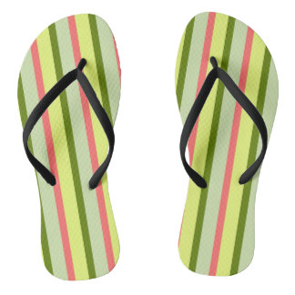 Watermelon Stripe Classic flip flops vertical