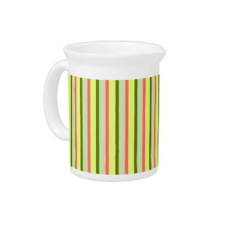 Watermelon Stripe Classic horizontal pitcher