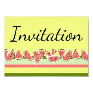 Watermelon Stripe Classic Invitation