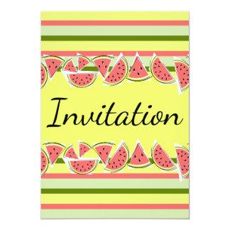 Watermelon Stripe Classic Invitation vertical