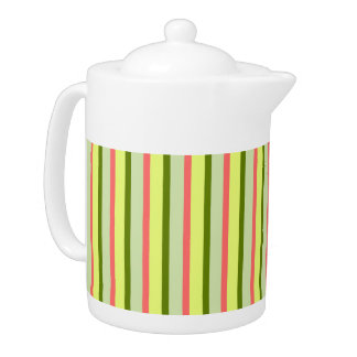 Watermelon Stripe Classic teapot
