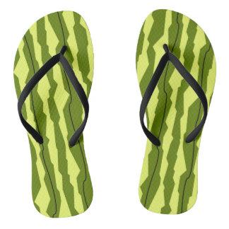 Watermelon Stripe flip flops