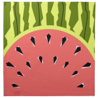 Watermelon Stripe Pink napkins cloth