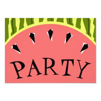 Watermelon Stripe Pink PARTY invitation