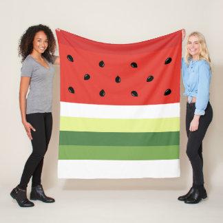 Watermelon Stripes fleece blanket