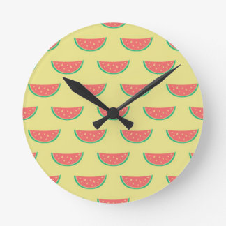watermelon summer pattern round clock