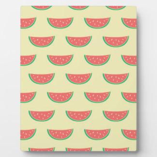 watermelon summertime pattern plaque