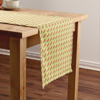 watermelon summertime pattern short table runner