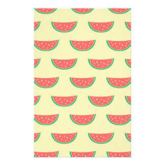 watermelon summertime pattern stationery
