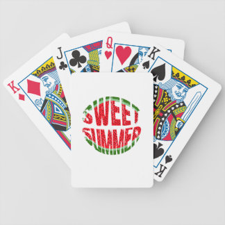 Watermelon - sweet summer bicycle playing cards