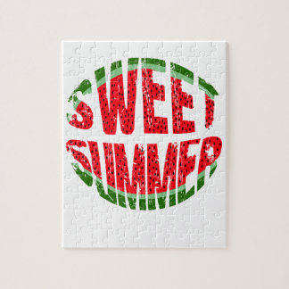 Watermelon - sweet summer jigsaw puzzle