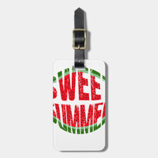 Watermelon - sweet summer luggage tag