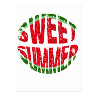 Watermelon - sweet summer postcard