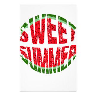 Watermelon - sweet summer stationery