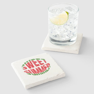Watermelon - sweet summer stone coaster