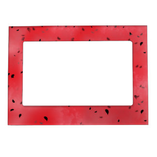 Watermelon Texture Background Magnetic Frame