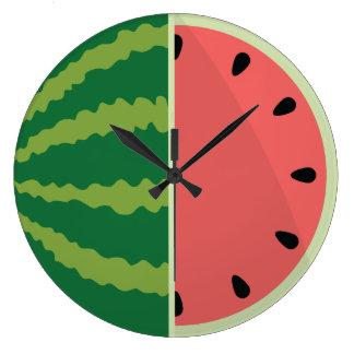 Watermelon Time! Large Clock