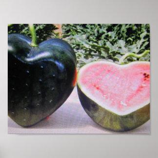 watermelon wall art poster