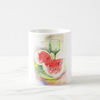 Watermelon watercolor mug