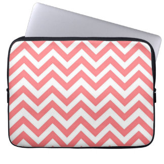 Watermelon & White Chevron laptop sleeve
