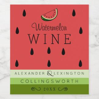 Watermelon Wine Label