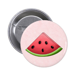 Watermelon with Pink Background Button