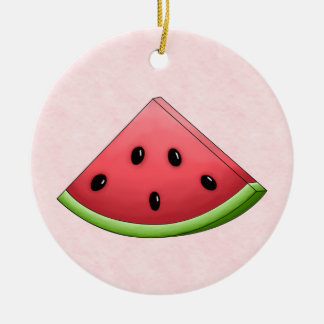 Watermelon with Pink Background Ornament