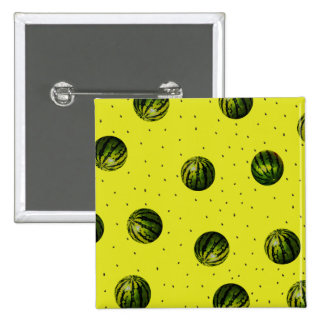 watermelon yellow with seeds 15 cm square badge